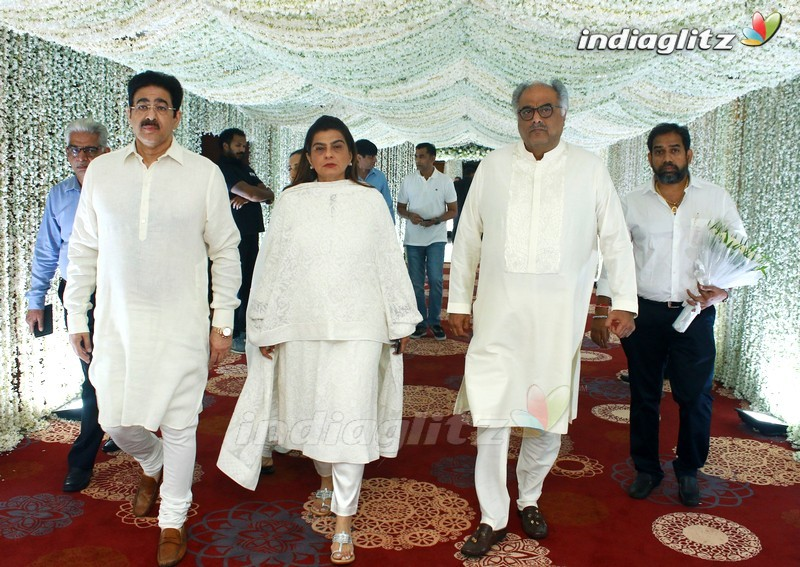 Celebs @ Sridevi Prayer Meet In Chennai