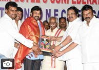 Chiru, Dasari Grace All India Film Employees' Fed Event