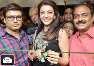 Kajal Agarwal Launches Bahar Cafe @ Madinaguda