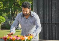 Jr NTR and Koratala Shiva @ Ntr Ghat