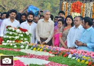 Nandamuri family pay homage @ NTR Ghat