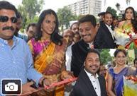PV Sindhu, Raashi Khanna At Kalamandir Opening In Vizag