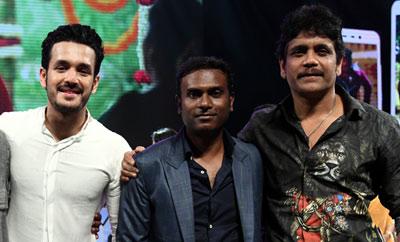 Nagarjuna, Akhil exude confidence at 'Hello' audio event