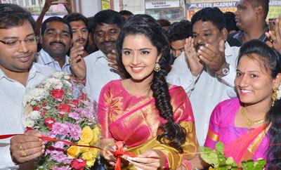 Anupama Parameshwaran @ VRK Silks Opening, Ameerpet