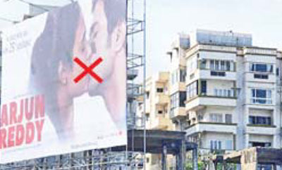Vizagites uncomfortable with 'Arjun Reddy' poster?