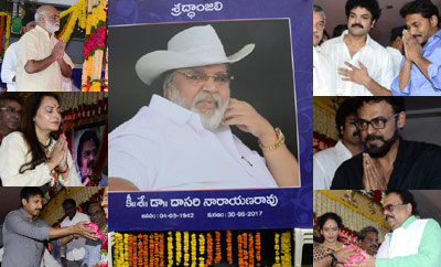 Mohan Babu , YS Jagan & Others At Dasari Condolence Meet