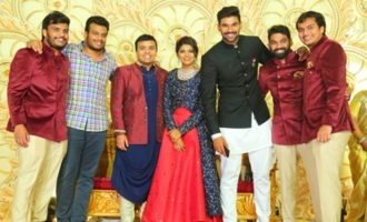 Celebs @ Ambica Krishna's grandson's wedding reception