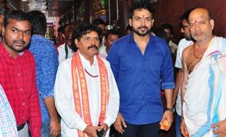 'Chinna Babu' Team @ Vijayawada Kanaka Durga Temple