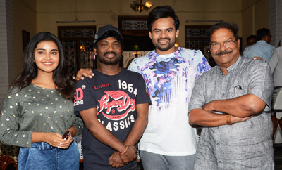Sai Dharam Tej-Karunakarans Movie On Location Press Meet