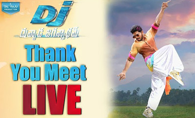 'Duvvada Jagannadham' Thank You Meet LIVE