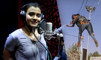 Hebah Patel hot scenes in making of 'Angel'