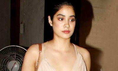 Jhanvi, Sridevi's daughter, startles in backless