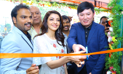 Kajal Agarwal Launches Happi Mobiles @ Karimnagar