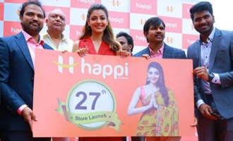 Kajal Agarwal Launches Happi Mobiles @ Hanumakonda