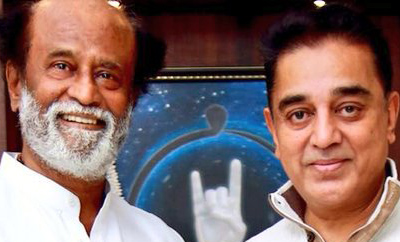 Kamal meets Rajinikanth, who prays for him