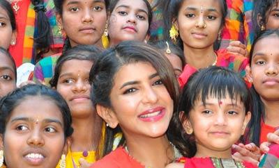 Lakshmi Manchu Celebrates Sankranthi with Govt Schools Kids