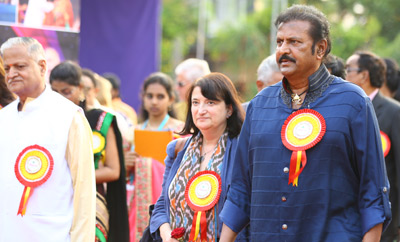 Mohan Babu Birthday Celebrations At Sree Vidyanikethan, Tirupati