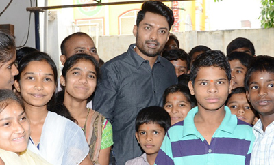 'MLA' Team At Keshava Trust Orphanage, Secunderabad