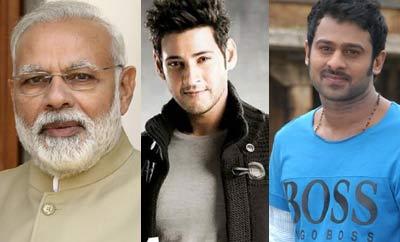 Modi writes to Mahesh, Prabhas, others