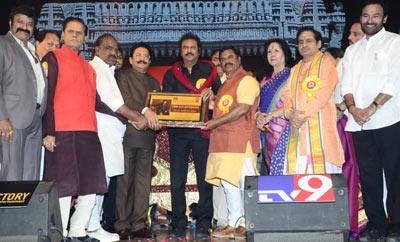 Mohan Babu felicitated by TSR Kakatiya Lalitha Kala Parishat