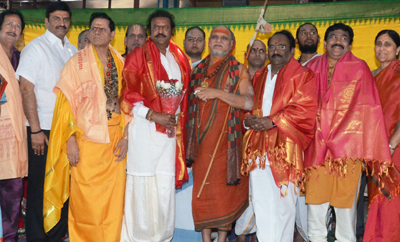 Mohan Babu elected Chairman of Film Nagar temple