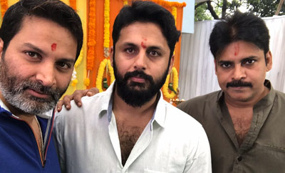 Pawan Kalyan-Trivikram-Nithiin movie goes to sets