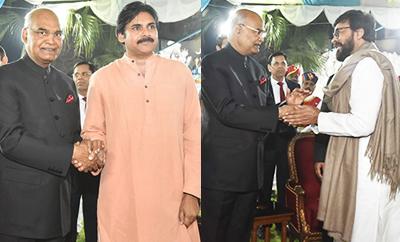 Chiranjeevi, Pawan Kalyan, Rana & Celebs Meet President