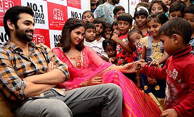 Ram & Lavanya @ Red FM's Diwali Celebrations In Cheers Foundation