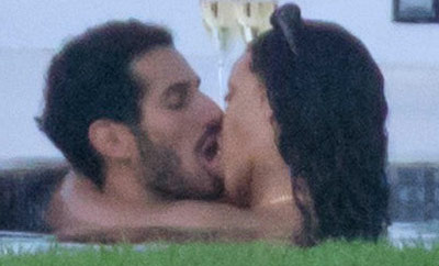 Rihanna PDA with a Mystery Man!