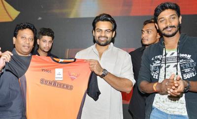 Sai Dharam Tej Launches SRH Jersey