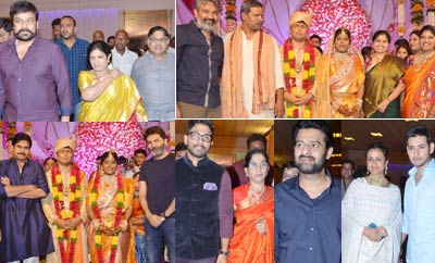 Celebs @ Producer Shyam Prasad Reddy's  Daughter Wedding