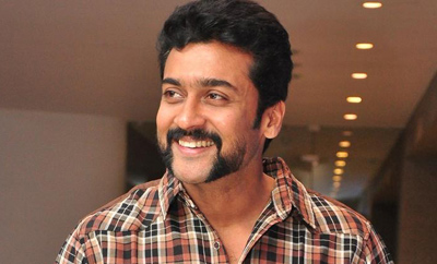 Suriya mobbed in Rajahmundry, jumps gate