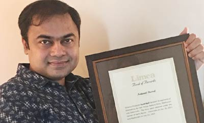 Syed Rafi Enters the 'LIMCA Book of Records'!