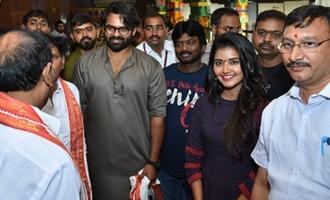 'Tej I Love You' Team @ Durga Temple Vijayawada