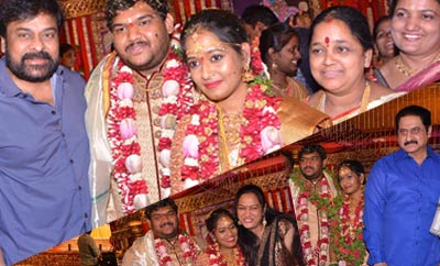 Celebs @ Chinna Srisailam Yadav Daughter Wedding