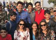 Madhuri Dixit visits Taj Mahal with family