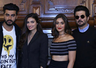 FUN TIME: 'Mubarakan' team enjoy press meet in London