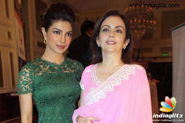 Priyanka Chopra congratulates Nita Ambani - Bollywood ...