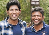 Puneeth visit Allu Sirish set