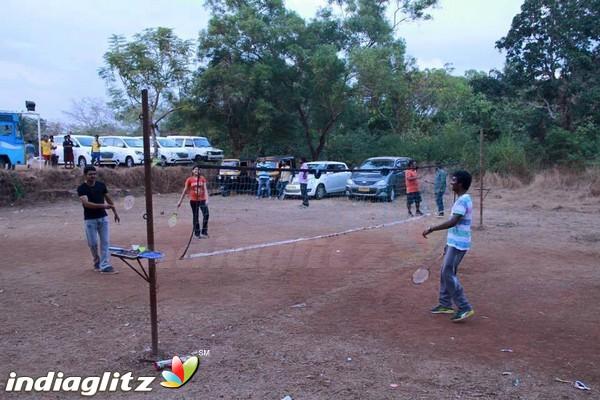 Badminton is played indoors