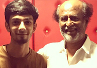 Rajinikanth visits Anirudh at his studio