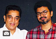 Kamal Haasan Watched 'Mersal' With Team Gallery