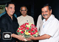 Delhi CM Arvind Kejriwal Kamal Haasan meet and discuss politics Gallery