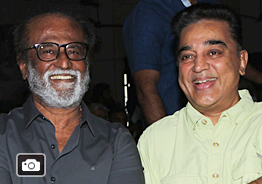 Kamal and Rajini at 'Kizhakku Appricavil Raju' Movie Pooja Gallery