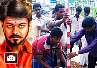 Thalapathy Vijay fans Mersal Celebration Gallery