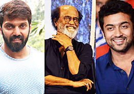 Surya to give a surprise for Rajini-Arya birthday