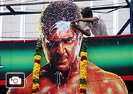 Vivegam Movie Fans Celebration in Chennai Kasi Theater Gallery