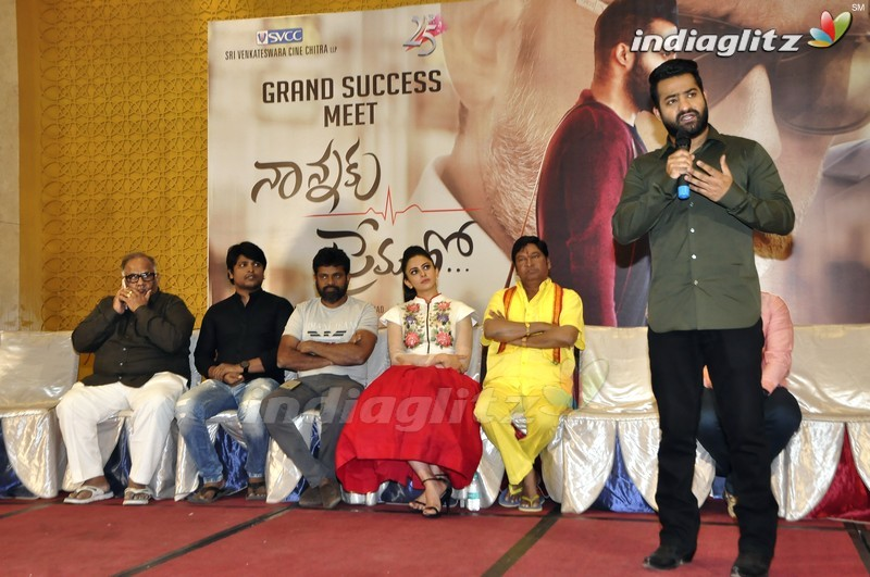 nannaku prematho success meet images of spring
