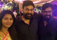 Chiranjeevi lets the hair down with family, industry friends
