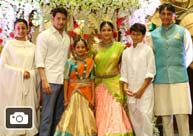 Mahesh Babu Family @ Manjula's Daughter Half Saree Function Gallery
